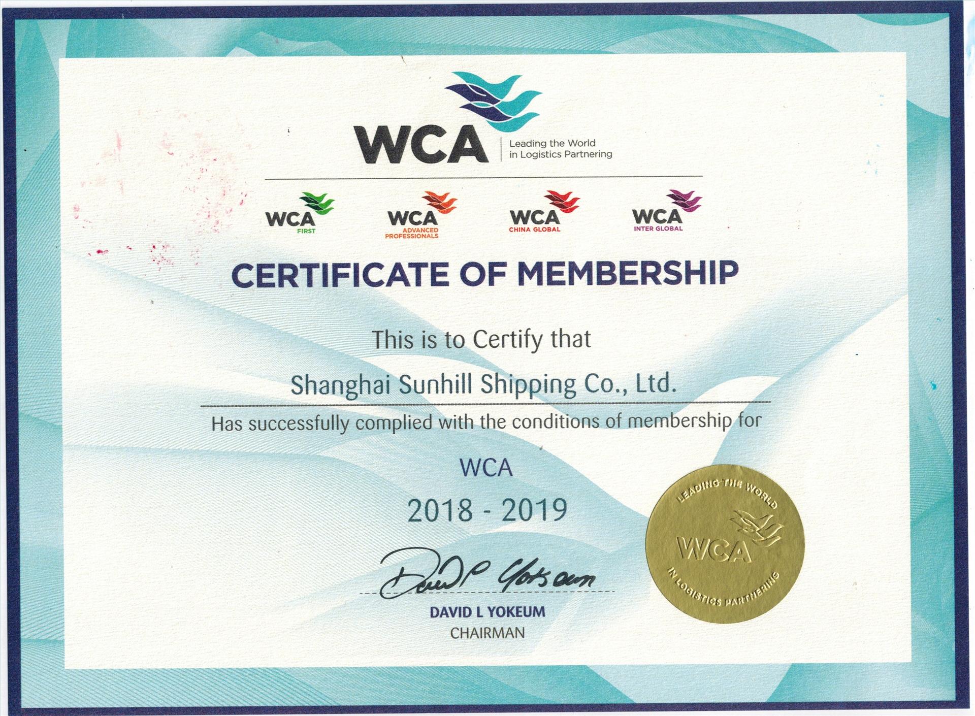 WCA荣誉会员